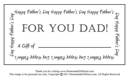 Fatheru0027s Day Gift Certificates Saleu0027s At Jeffu0027s Optical - homemade gift certificate templates
