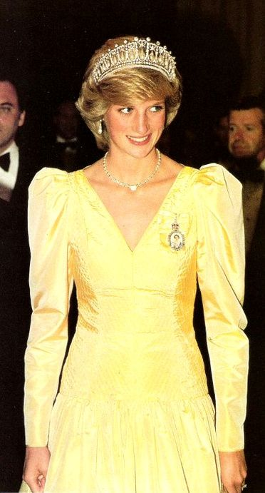 Princess Diana 6/23/83 Premier Dinner at the Newfoundland Hotel, St John's, Newfoundland.......Uploaded By www.1stand2ndtimearound.etsy.com