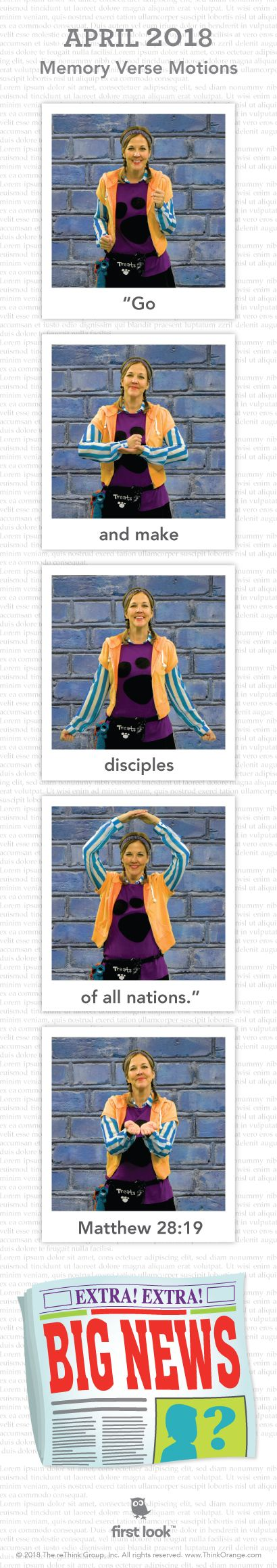 Memory Verse Hand Motions