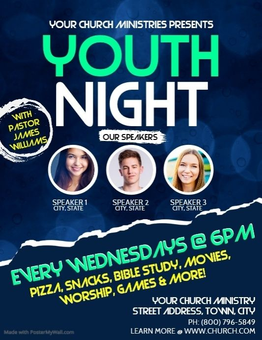 Youth Church Flyer Social Media Graphics Church Graphic Design Flyer