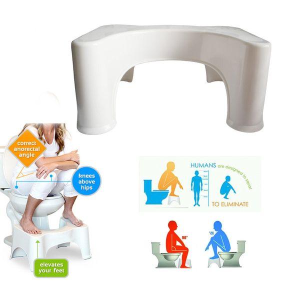 ABS Nonslip Bathroom Toilet Stool Prevent Constipation Toilet Footstool for Better Bowel Movements at Banggood. Honana BX 926 ABS Nonslip Bathroom Stool Prevent Constipation