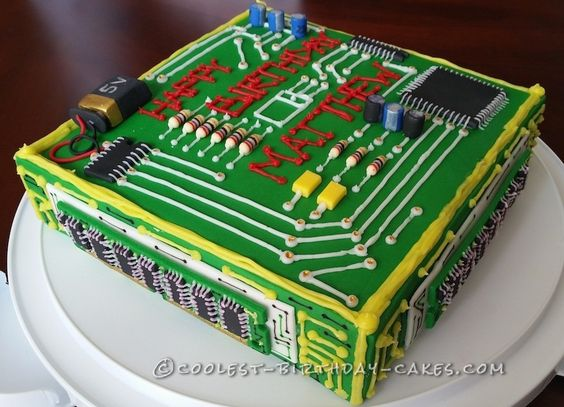 Electrical Engineer Cake Design : Dream Computer Birthday Cake for a Computer Engineer Birthday cakes, Birthdays and Cake ideas