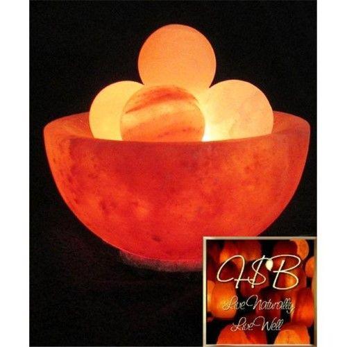 Linnea Brands 691081 Bowl Lamp With 4 Energy Spheres As Shown Pink Salt Lamp Himalayan Salt Lamp Benefits Hymalayan Salt Lamp