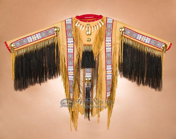 "Native American Deer Skin War Shirt 65""x40"" -Gold by Manny Silvas (ws3) - Mission Del Rey Southwest"