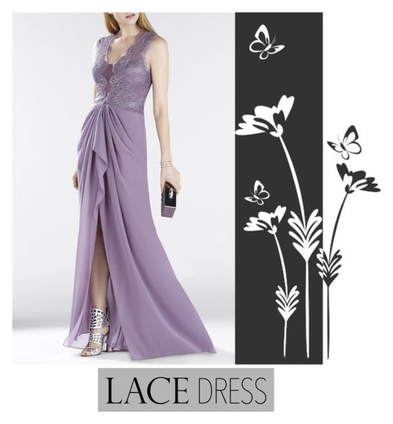 """""""Lace dress"""" by americadiva ❤ liked on Polyvore featuring BCBGMAXAZRIA"""