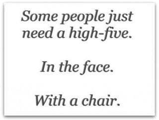Face high five.