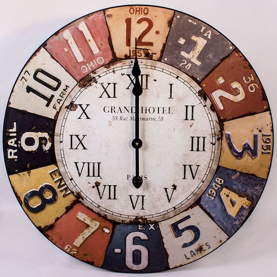 Large Vintage Wall Clock To Fill Expansive Wall Space Wall