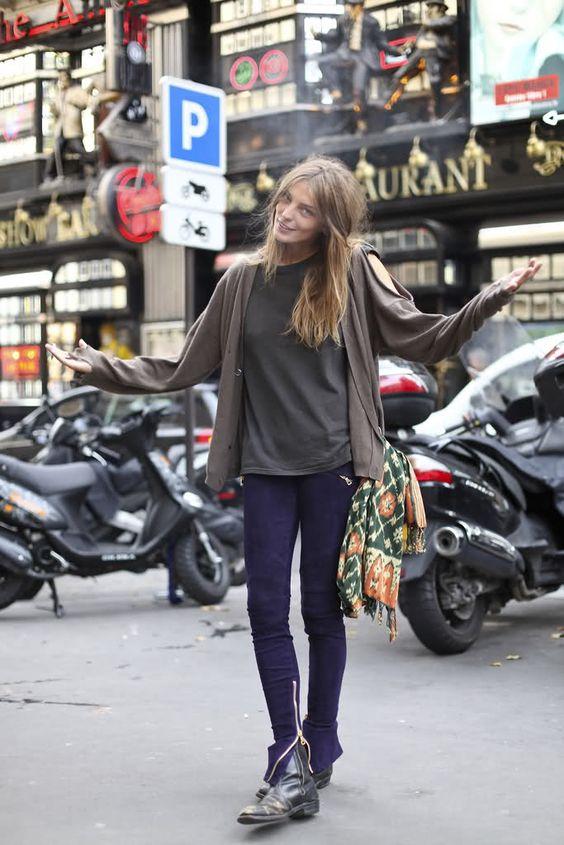 purple zipper jeans
