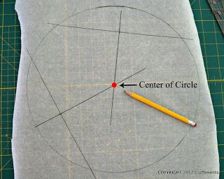how to find the center of circular objects