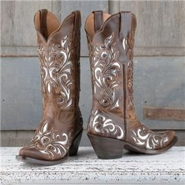 Brown and Silver Laser cut Boots