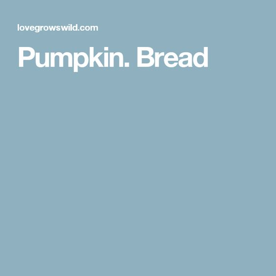 Pumpkin. Bread