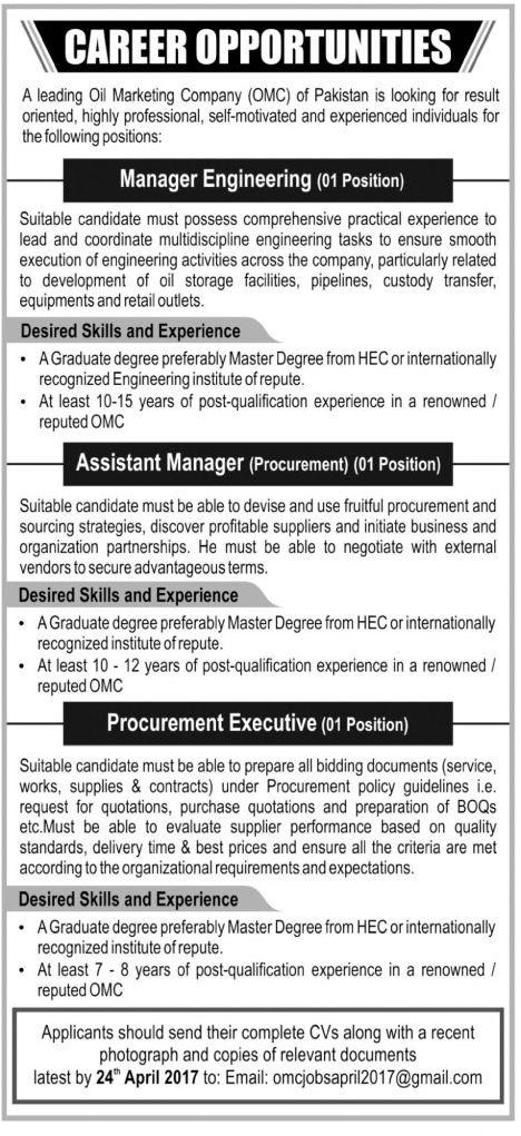 Jobs In Oil Marketing Company Omc Jobs In Oil Marketing Company