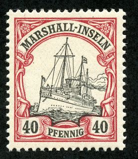 Marshall Islands 1901 Scott 19 40pf lake & black