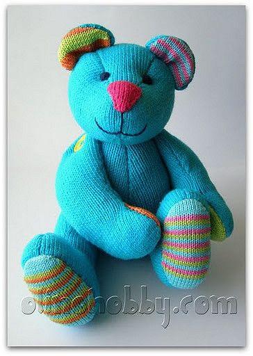 Knitted Turquoise teddy bear | par OlinoHobby
