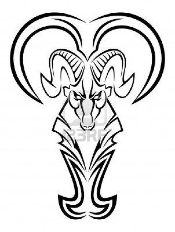 tribal zodiac aries tattoo design for men think ink pinterest tattoo design for men. Black Bedroom Furniture Sets. Home Design Ideas