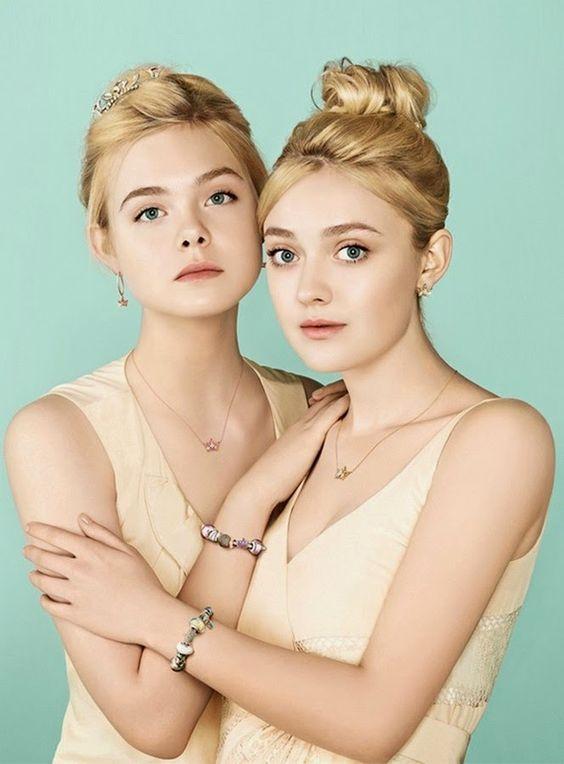 CELEBRIDADES FEMENINAS Por E TValens: Elle y Dakota Fanning: Que hermosas hermanas las numero uno.