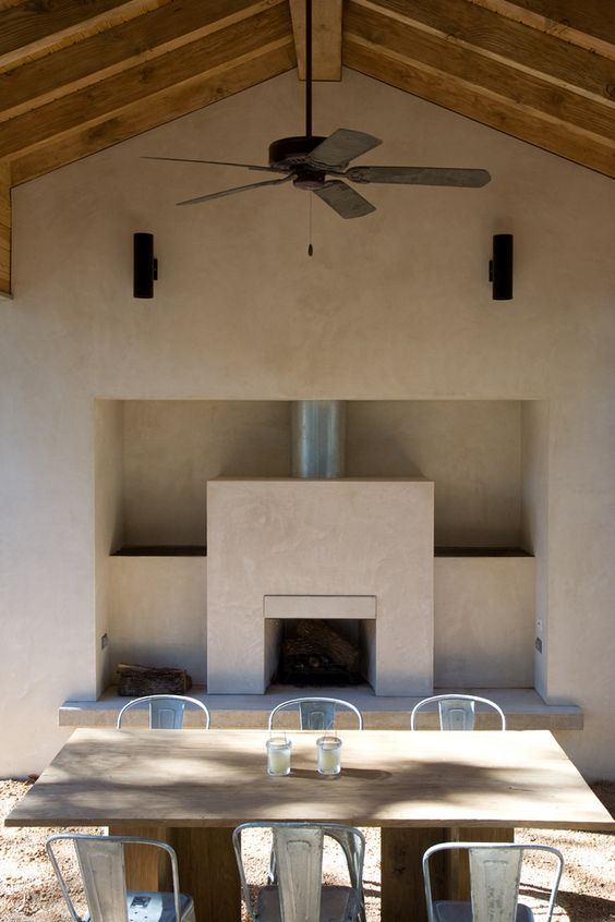 Stucco Porch Fireplace House Pinterest Fireplaces Porches And Ce