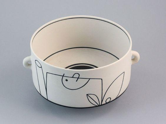 Nicholas Homoky (Hungarian/British, b.1950)  |A footed Bowl with looping handles, circa 1981