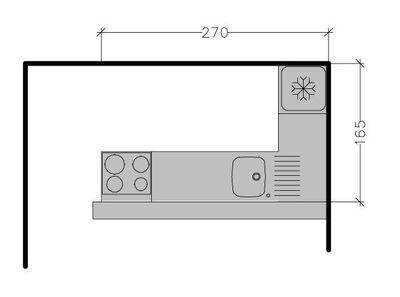 Petite cuisine tous les plans de petites cuisines jusqu 39 6 m cuisin - Plan de petite cuisine ...