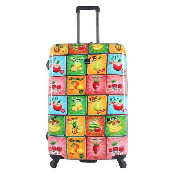 Großer #Koffer Saxoline Fruit bei Koffermarkt: ✓auffallend buntes Motiv mit Früchten ✓4 Rollen ✓ABS-Polycarbonat-Hartschale ✓81 l ⇒Jetzt kaufen