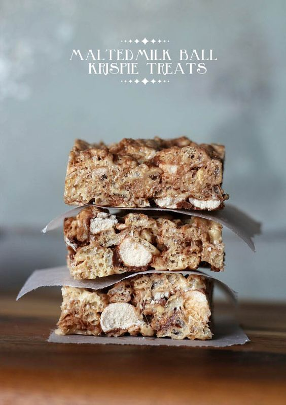 Malted milk, Krispie treats and Milk on Pinterest