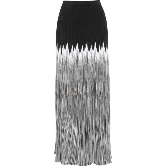 Missoni Pleated crochet-knit maxi skirt found on Polyvore