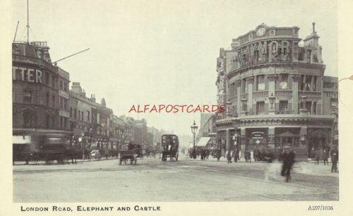 London-Road-Elephant-Castle-Southwark-London-Vintage-Postcard-c1910