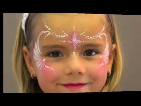 Face Painting for beginners, fast design, intermediate, Princess,  just a few strokes, Paradise Makeup AQ, Mehron, Jinny Makeup Artiste Inc.,  #Head2ToeTheatrical  http://stores.ebay.com/Head-2-Toe-Theatrical