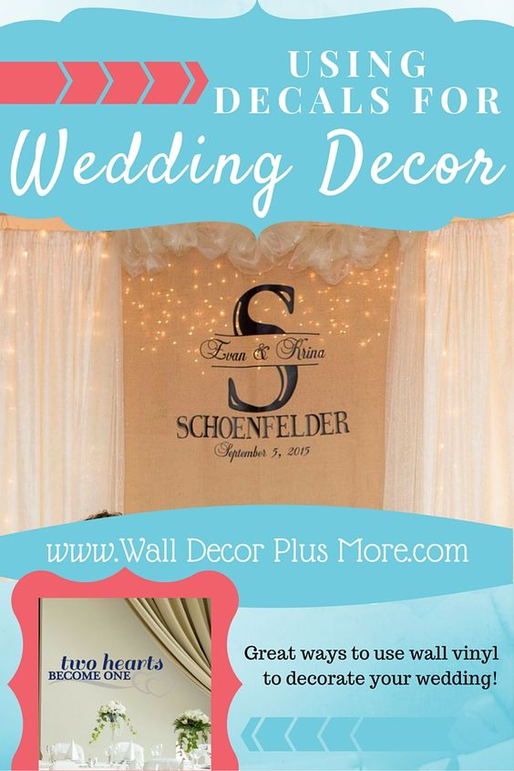 Personalized burlap wedding backdrop decoration. Also repurposes for decoration in the new home!