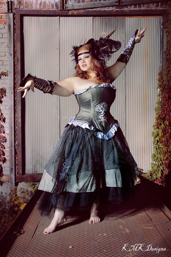 "Steampunk Bohemian Wedding Gown with Gothic Nature Designs ""Organic Raven Gown""-Custom to Order. $825.00, via Etsy."