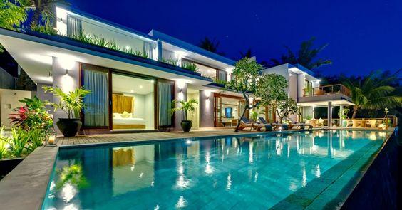 Casas de ensue o villa tropical con piscina de horizonte - Piscinas de ensueno ...