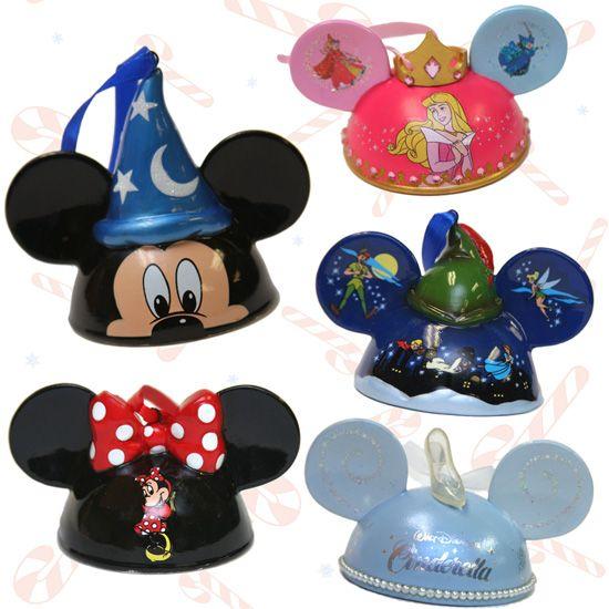 Disney ear hat ornaments...I'll take one of each, please!