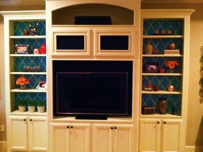 Stenciled bookcases
