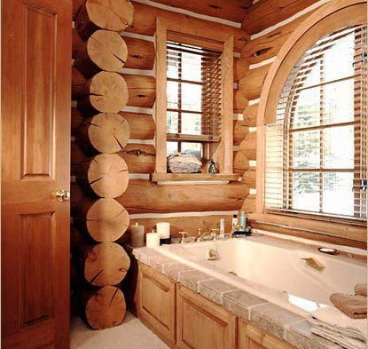 Not only a bathroom but a log bathroom!