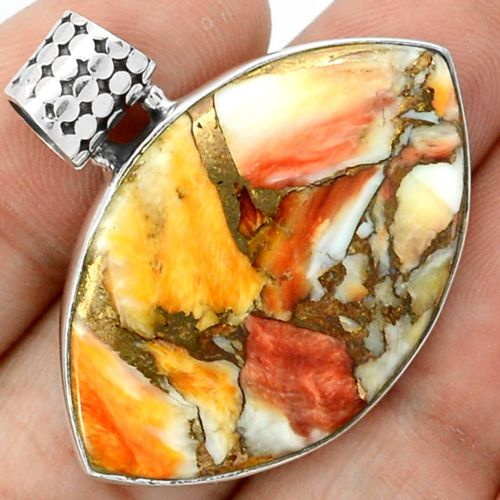 Spiny-Oyster-925-Sterling-Silver-Pendant-Jewelry-SP157379