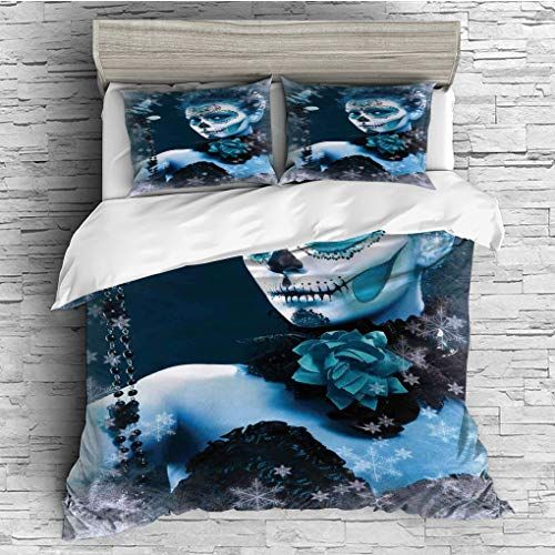 Flat Sheet for Adult//Kids//Teens Various Sized Flowers in Nature Bottom to Top X-ray Image Creative Artful Design Flower King Duvet Cover Sets 4 Piece Bedding Set Bedspread with 2 Pillow Sham