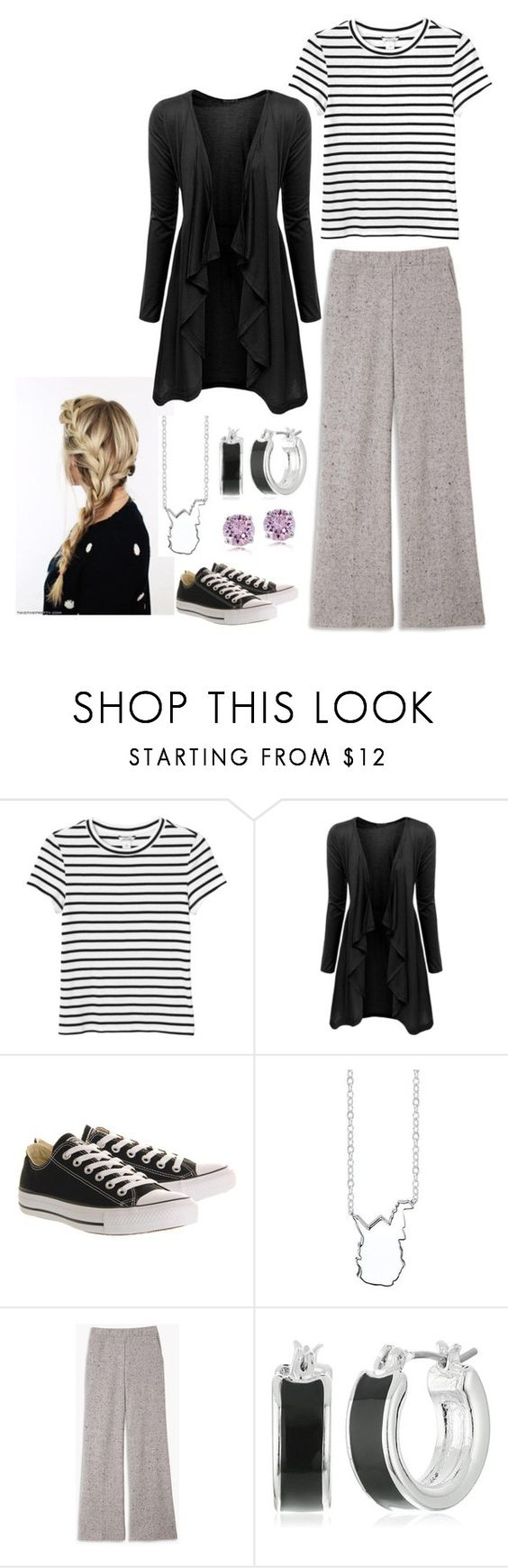 """Thursday"" by mountain-girl-lynn ❤ liked on Polyvore featuring Monki, Doublju, Converse, Bridge Jewelry and Napier"