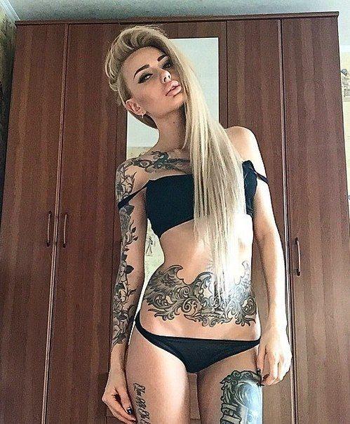 Inked naked hot girls — photo 12