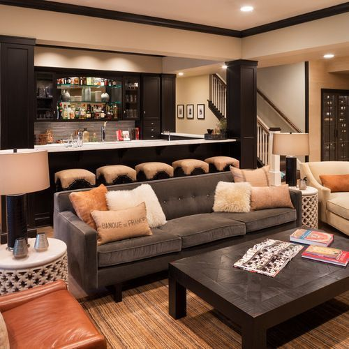 Basement Bar Ideas, Pictures, Remodel And Decor. Get Inspired By This Basement  Finish