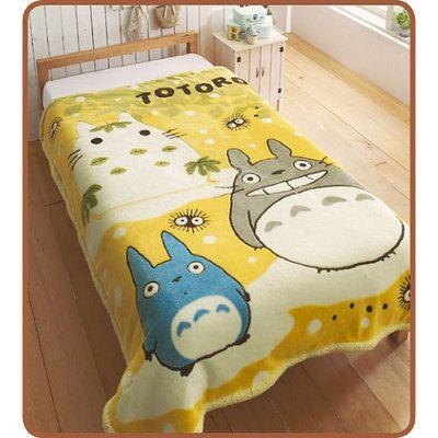 Brigit would love this..........TOTORO Microfiber Blanket STUDIO GHIBLI