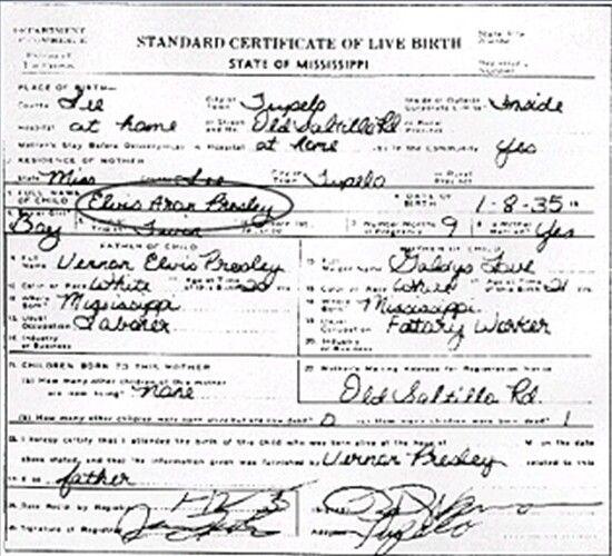 elvis death certificate handwriting analysis
