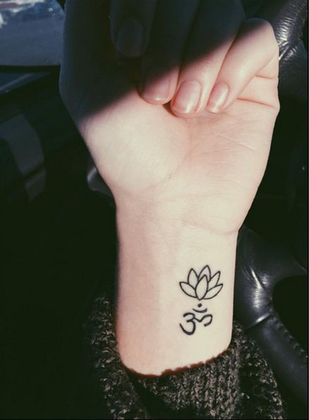 Small lotus tattoo ink youqueen girly tattoos flower for Small lotus tattoo