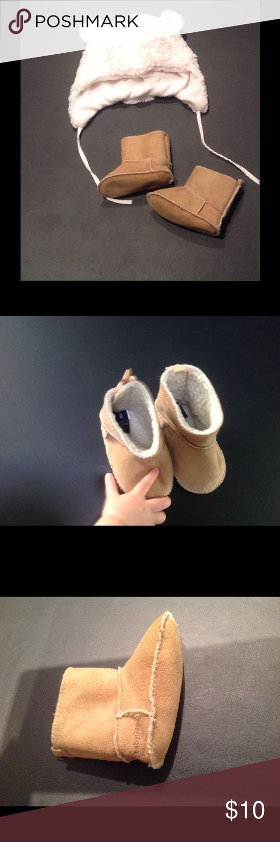Baby Gap Boots Warm moccasin boots.  6-12 months Baby Gap Shoes