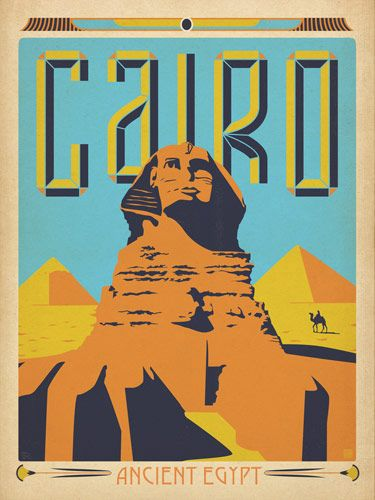 Cairo World Travel Poster on Cool Mom Picks; other cities too