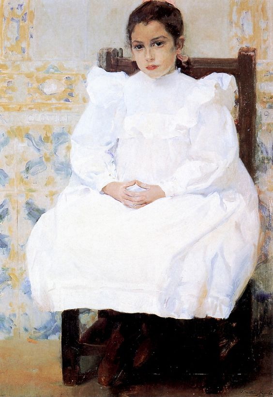 Joaquín Sorolla y Bastida.  Mariana de Pontejos, 1900. Oil on Canvas. 43.31…