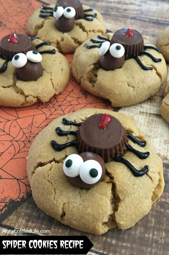 Spider Cookies Recipe. These fun and spooky Spider Cookies are delicious Halloween treats all your little ghosts and goblins will enjoy. Easy to make, these Spider Cookies will be a big hit at your next Halloween party, packed in a school lunchbox, or as an afternoon treat.