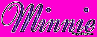 Minnie Mouse Glitter Background   Glitter Graphic Comment: Minnie Purple Glitter Name