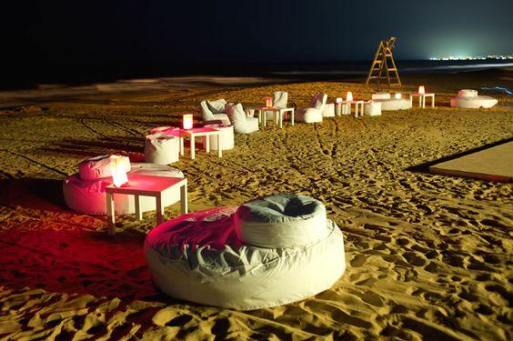 Una fiesta en la playa?