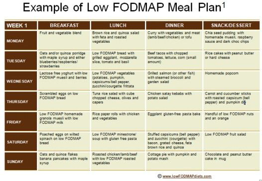 low fodmap diet sample recipe