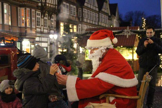 Pünktlich zum Nikolaustag kam der Nikolaus auch nach Celle.